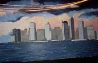 Skyline mural